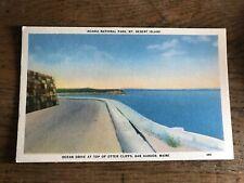 Ocean Drive at Top of Otter Cliffs Bar Harbor Maine Mt Desert Island Postcard