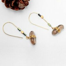 Accessories Brown Vintage Copper Wire Trendy Earrings Stone Pendant Women