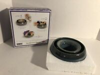 Tumbleweed Pottery Pansy Flower Ring  Glazed Centerpiece Floral.