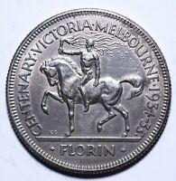 1934-35 Australia 1 One Florin - George V - Victoria and Melbourne - Lot 756