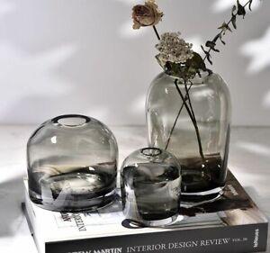 Handmade Transparent Coupol Bottle Glass Vase Flowers Pot Home Tabletop Decor