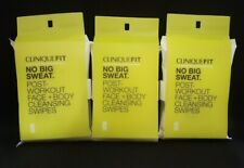 Clinique Fit Post Workout Face+Body Cleansing Swipes (LOT OF 3)