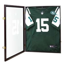Jersey Display Case Wall Frame Shadow Box Football Baseball Basketball Cabinet