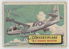 1957 Topps Planes of the World Blue Back #31 Convertiplane Non-Sports Card 0s4
