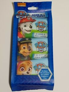 Hand Face Wipes for Children Kids - 3 packs of 10 Handy Wipes - Paw Patrol