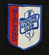 "c.1972 Mfsc ""Midland Figure Skating Club"" Saginaw Bay City Mi Ice Skate Patch"