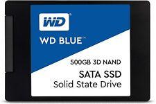 "WD HDD SSD 2.5"" 500GB SATA 6GB/S BLUE WDS500G2B0A SATA III HARD DISK COMPUTER"