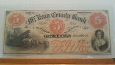 1850's $5 McKean County Bank, Smethport, Pennsylvania Gem Uncirculated