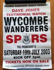Wycombe v Tottenham/Spurs 2003/04 Dave Jones Testimonial match poster