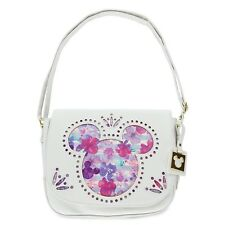 Mickey and Minnie Mouse Icons Floral Crossbody Bag Purse Disney Boutique