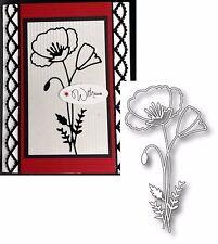 Memory Box Dies PERKY POPPY metal Die 98762 Poppies Flowers All Occasion Stem