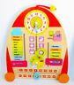 Wood Clock Calendar Days Seasons Weather Preschool Time Learning Kids Toy Board