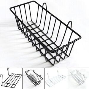 Wall Hanging Storage Rack Bathroom Kitchen Home Iron Wire Organizer Basket Shelf