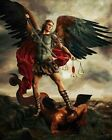 St Michael The Archangel defeating satin 8  x 10 Print