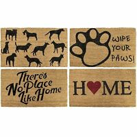 Novelty Non Slip Door Mat Tough Natural Coir PVC Back Welcome Doormat 40 x 60cm