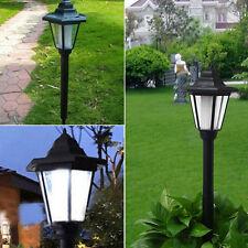 2X Außen Solarbetrieben LED Weg Wandmontage Garten Zaun Lampen Licht ~