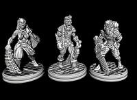 Tabletop Miniaturen 3 Mutanten 28mm für Warhammer 40k / Infinity o.Ä.