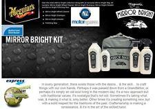 MEGUIARS MIRROR BRIGHT KIT WHEEL CLEANER SHAMPOO DETAILER POLISHING WAX FINISH