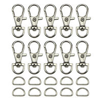1Set Swivel Lobster Claw Clasp D Ring For Necklace Bracelet Jewelry Making  FT