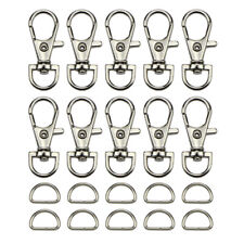 1Set Swivel Lobster Claw Clasp D Ring For Necklace Bracelet Jewelry Making DIY
