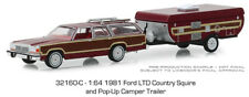 Greenlight 1:64 Hitch & Tow 1981 Ford LTD Country Squire & Pop-Up Camper Trailer