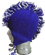 Beanie Mohawk Hat Hand Knit 100% Wool Polyfleece Lined Nepal