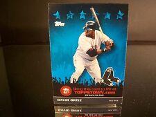 Insert David Ortiz Topps Toppstown.com 3D Live 2009 Card #TTT27 Boston Red Sox