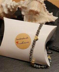 Armband Glasperlen mit Makramee Verschluss