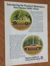 1974 Datsun 240K original Australian large full page advertisement