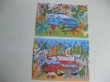 VW BUS/CAMPER & CADDY ORIGINAL GERMAN ISSUE ADVERT POSTCARDS 2018 NEW AND RARE