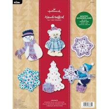 Bucilla Hallmark Felt Applique Kit - Wintry Wonderland Ornaments Set of 6