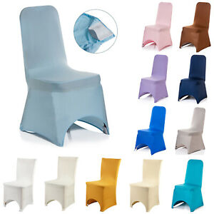 Chair Seat Slip Covers Stretch Protective Spandex Wedding Banquet Home Party