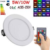 LED Deckenleuchte Panel RGB Wand Lampe Innen Heim Beleuchtung W/Fernbedienung