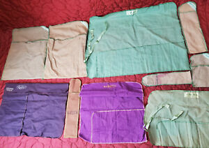 Lot of 13 Anti Tarnish Vintage Cloth Marshall Fields Sterling Storage Roll Up
