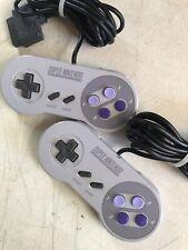 Super Nintendo SNES Controller SNS-005 102 Original OEM Genuine Official 2 Pack