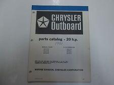 1981 Chrysler Outboard 20 HP Parts Catalog Manual 202 203 206 207 H B 1M H1 B1 C