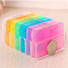 7 Day Weekly Daily Pill Box Organiser Medicine Tablet Storage Dispenser Holder