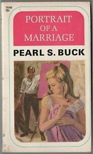 Vtg Pulp Book Fiction Novel Portrait of a Marriage by Pearl S Buck