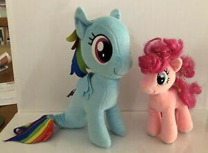 My Little Pony 40cm Plush  Rainbow dash sea pony & Ty Sparkle Pinkie Pie 20cm