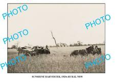 OLD 6 x 4 PHOTO SUNSHINE HARVESTER IN ACTION c1920 NSW1