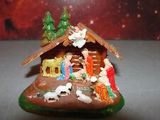 ✝️ CHRISTMAS HOLIDAY CRECHE NATIVITY HOLY SCENE ORNAMENT MINIATURE MINI VINTAGE