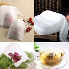 100X Tea Bag Fillable Bags Spices teetüte Teefilter Bag Empty 5.5*7cm