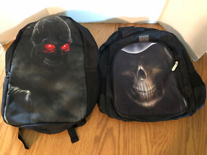 GRIM RIPPER & RED EYED SKULL BACK PACKS - Skull/Reaper/