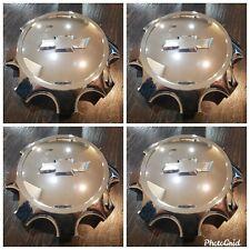 Chevy center caps hubcaps wheel chrome 2500 3500 5501 2011-2021 SET OF 4