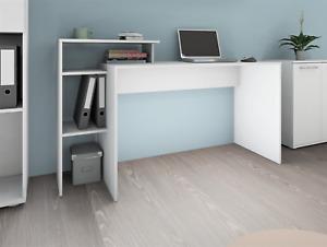 """Schreibtisch """"VAL"""" Arbeitstische Bürotisch Tisch Computertisch Weiß Matt"""