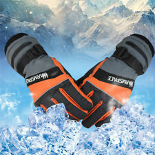 Winter USB Electric Heated Gloves Waterproof Thermal Motorcycle Fishing Skiing
