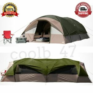 Camping Outdoor Tunnel Dome Tent K 20-Person 2 Entrances Fits 6 Queen Air Beds