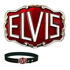 Elvis Rockabilly Gürtelschnalle Rock`nRoll Music 50s Buckle *046 rot