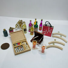 1:6 Dollhouse Miniatures Shopping Bag Chandelier Glasses Cigars Paint Box Bag
