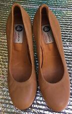 Lanvin Paris Leather Wedge High Heel Shoes Womens Size 38